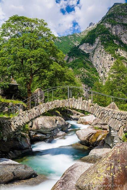 Stone Bridge, Ticino Canton, Switzerland